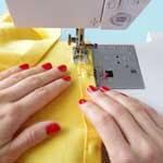 Sew the hem + (optional) tab