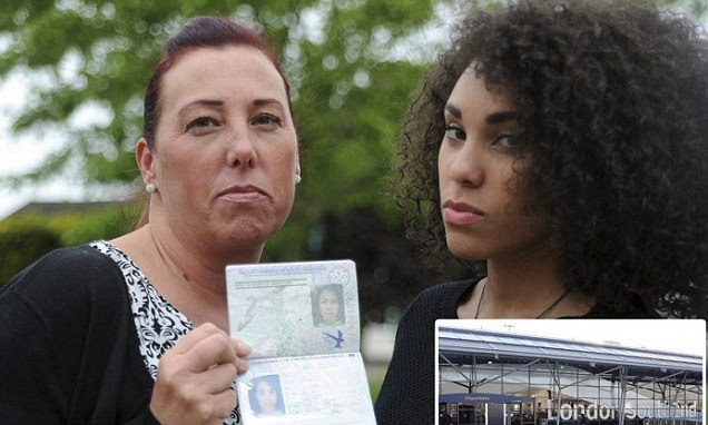 Mother flew to Spain on her daughter's passport...even though they have different colour skin