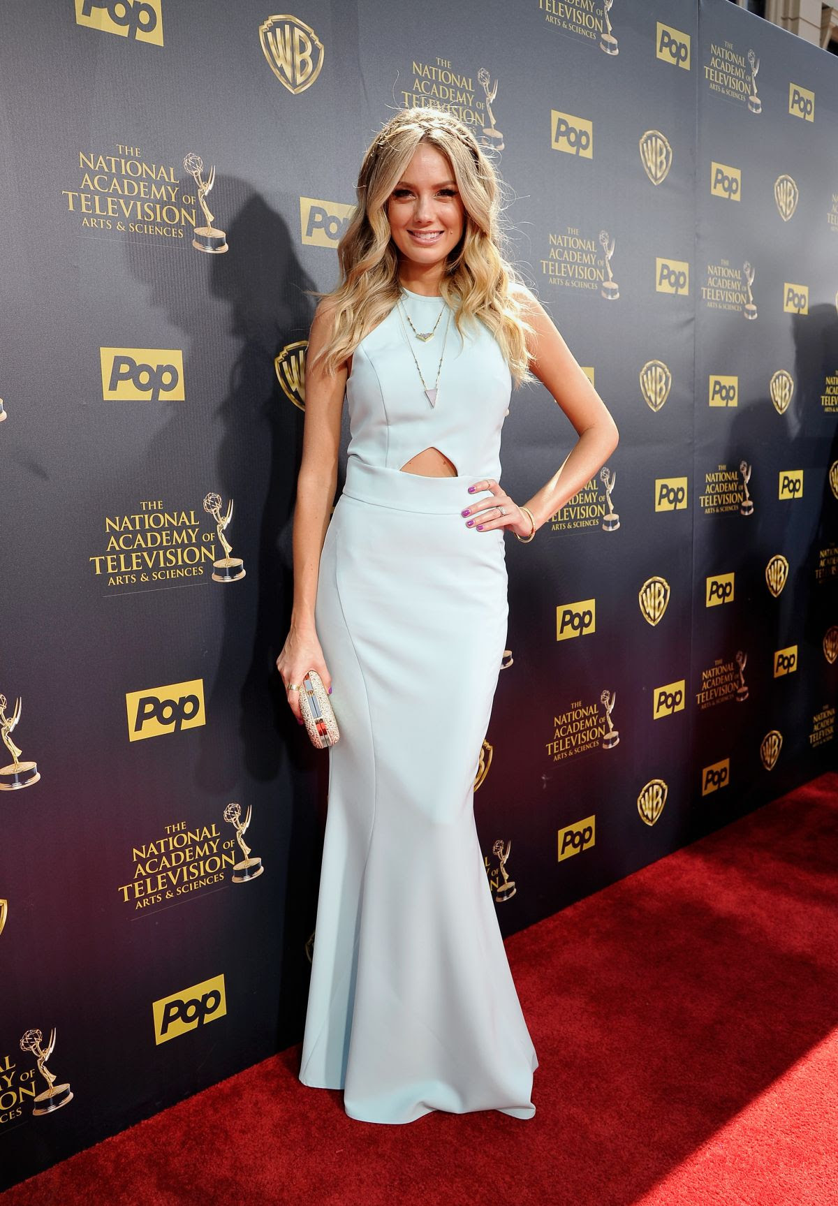 MELISSA ORDWAY at 2015 Daytime Emmy Awards in Burbank