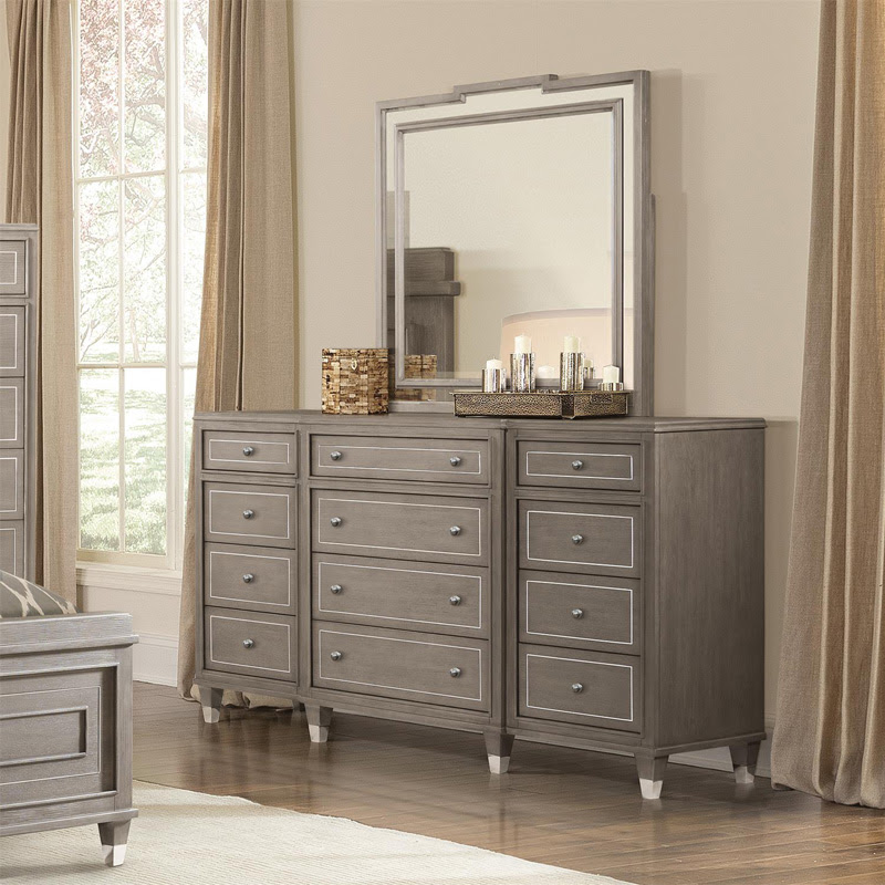 Riverside 37060 Dara II Twelve Drawer Dresser and Mirror ...