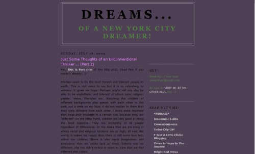 Dreams of a New York City Dreamer