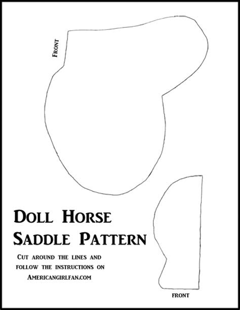 Doll Craft: Make A Doll Horse Saddle (With Free Pattern