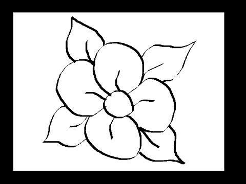 رسم وردة سهلة وجميلة Makusia Images