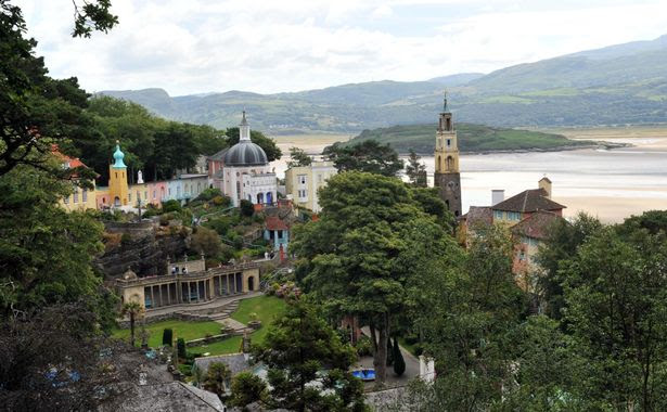 Portmeirion has acres of woodland and miles of beach to roam with the family.