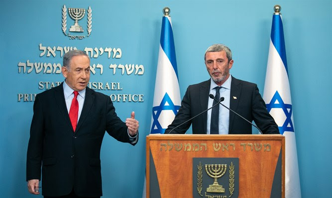 Rafi Peretz and Netanyahu