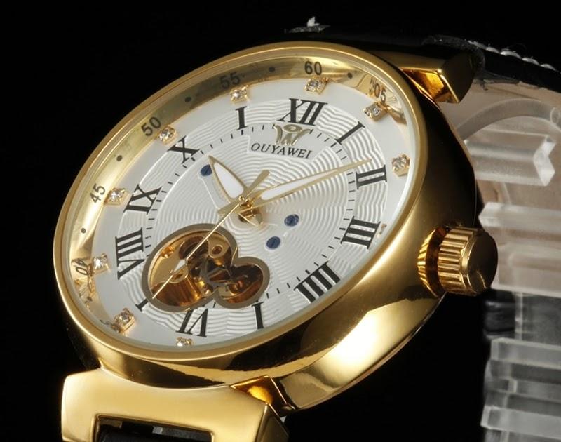 71891c2bdaf Comprar Relógios De Ouro Luxo OYW Branco Mens Masculino Automático Auto  Vento Relógio Vestido Negócio Pulseira Couro Moda Pulso Montre Homme Baratas  Online ...