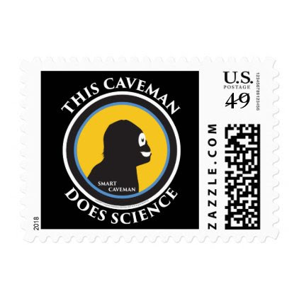 $0.49 Postage Stamps Smart Caveman Does Science
