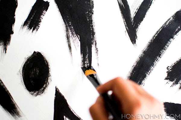 Diy Abstract Black And White Art Homey Oh My
