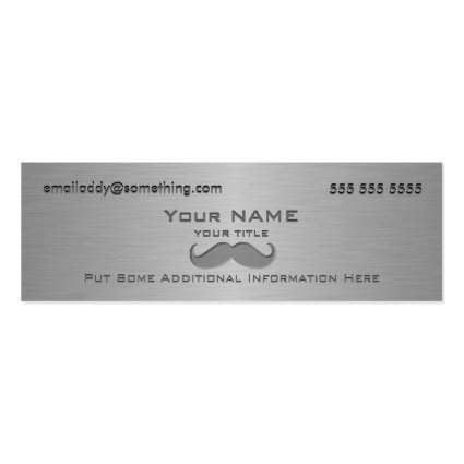 Modern Mustache Metallic print Business Cards
