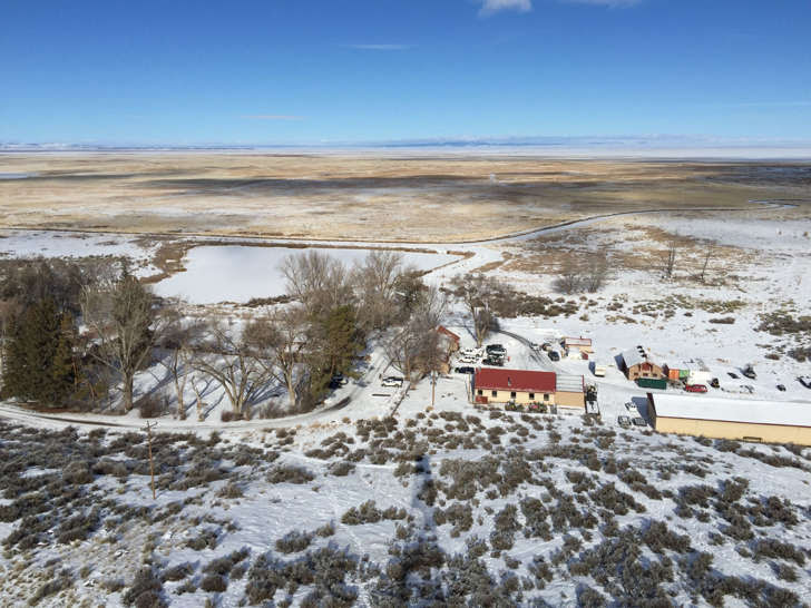 The Malheur National Wildlife Refuge near Burns, Ore., is seen from atop an old fire lookout on Friday, Jan. 15, 2016.