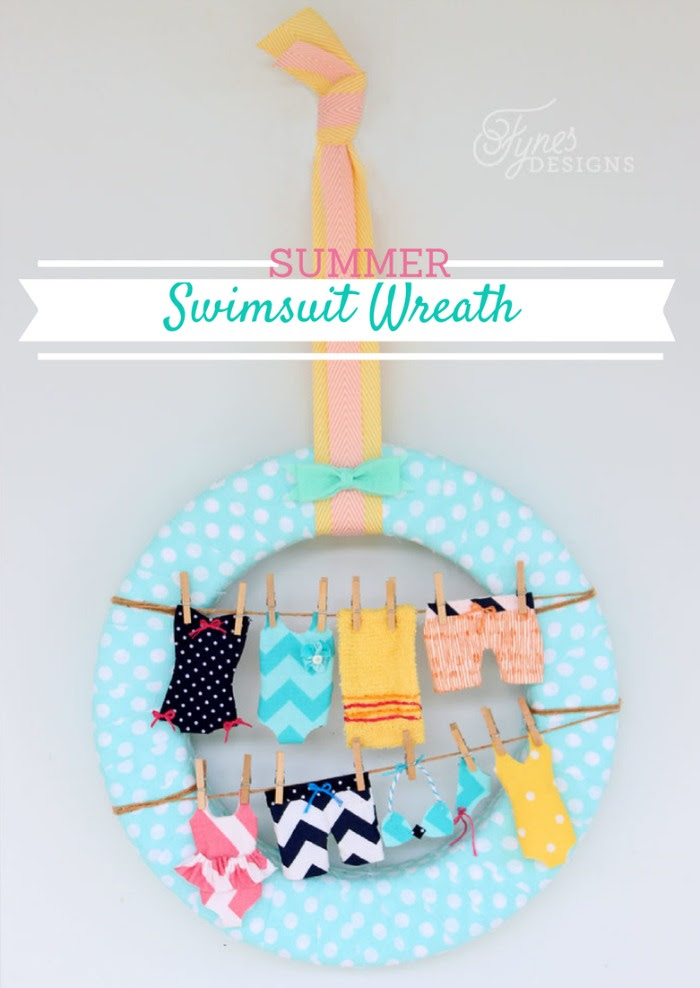 DIY Summer Swimsuit Wreath - HMLP 41