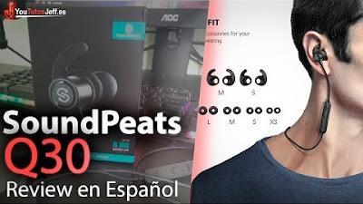 SoundPeats Q30 Review Español - Hasta 8 horas de BATERÍA - Auriculares Bluetooth