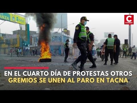 Paro nacional de trasportistas: Gremios se unen a la protesta en Tacna