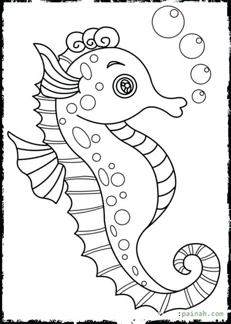 seahorse coloring pages  print  getdrawings
