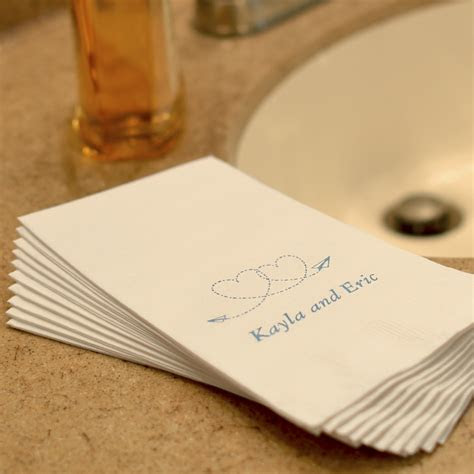 wedding hand towels personalized  ply paper