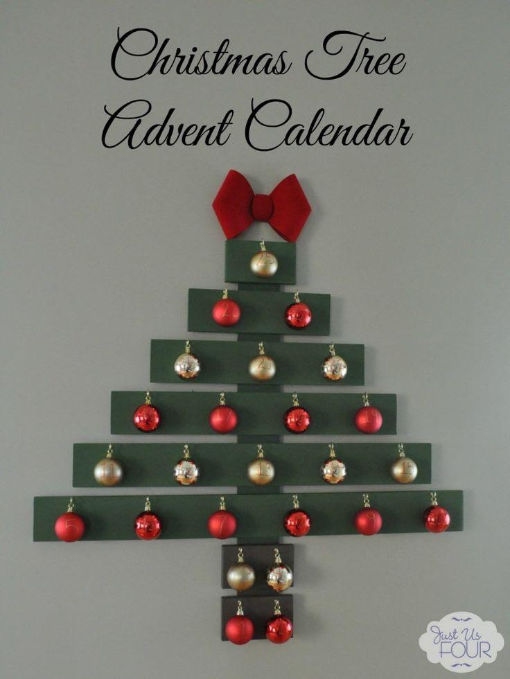 Christmas Tree Advent Calendar - Just Us Four