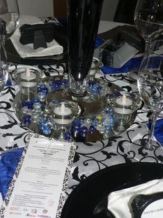 Black And White With Royal Blue Decor - Native Home Garden ...