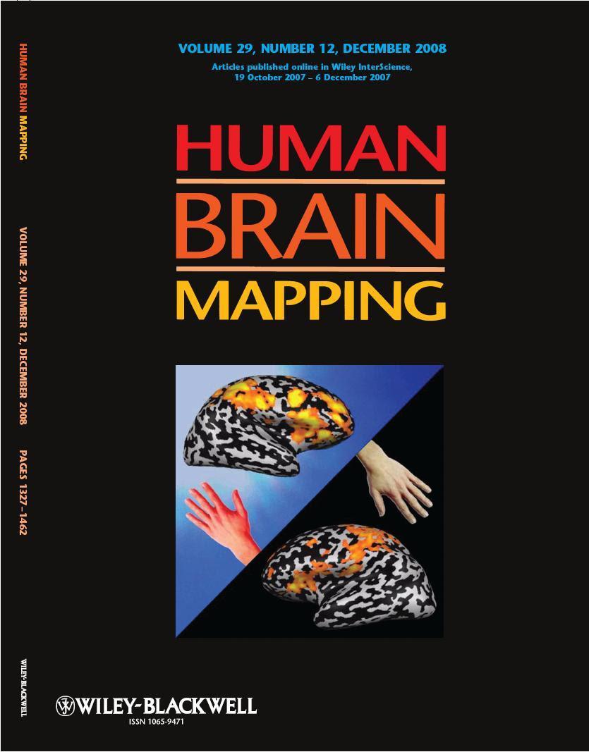 Human Brain Mapping Organization For Human Brain Mapping