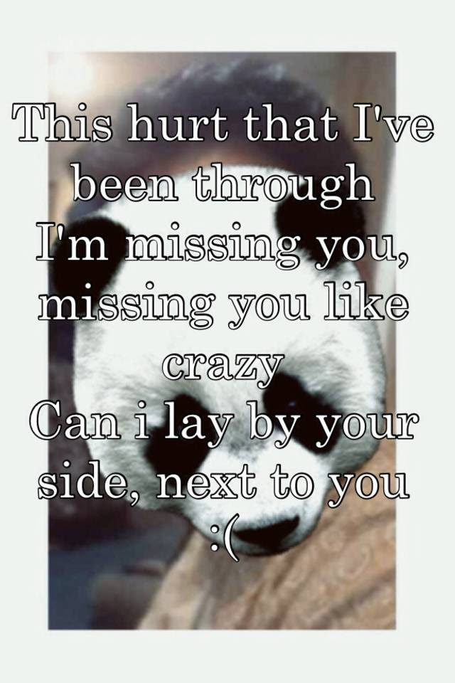 This Hurt That Ive Been Through Im Missing You Missing You Like