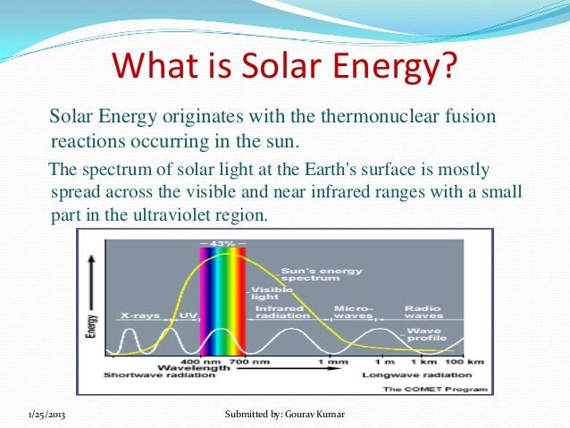 Short note on solar energy