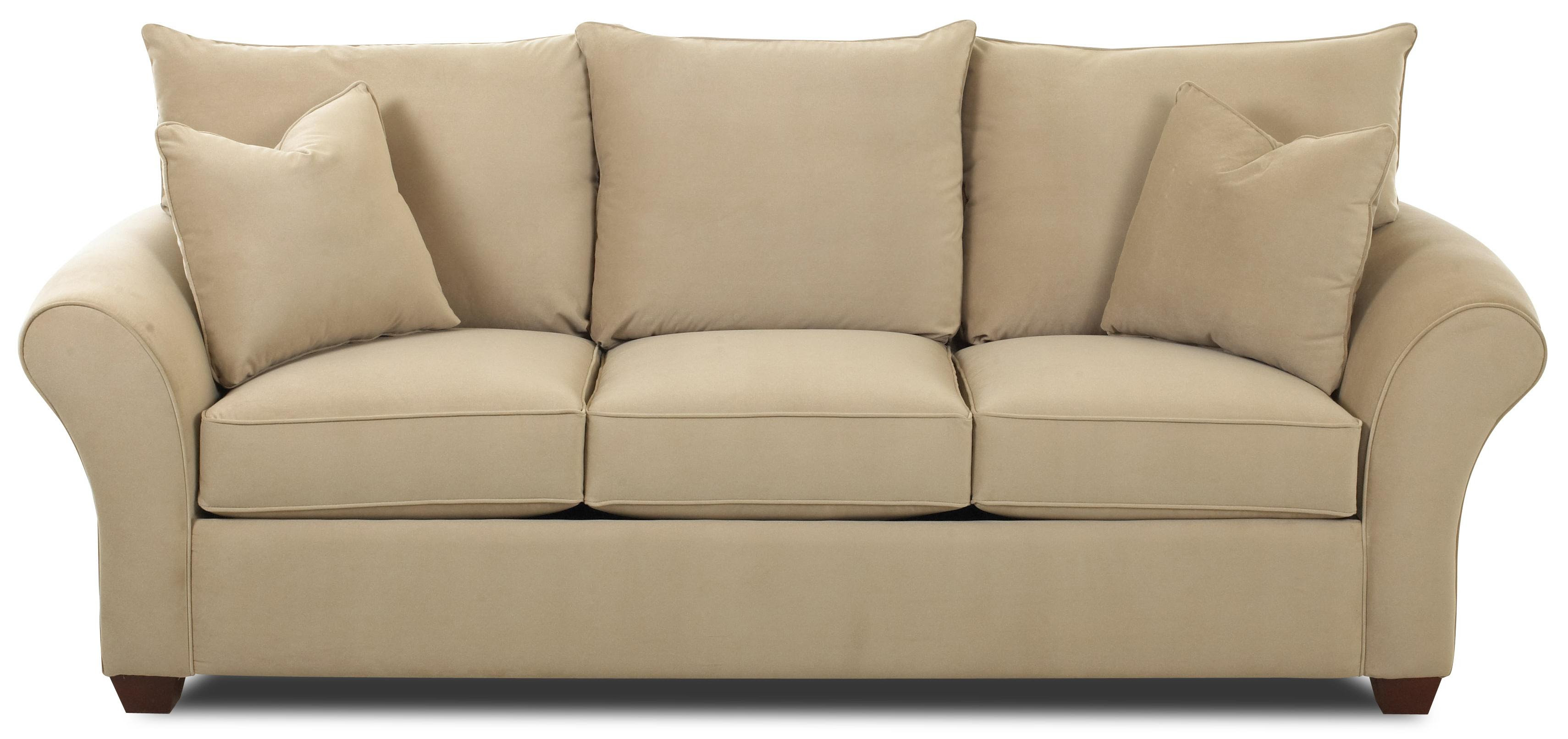Cream Color Of Simple Couch With Its Pillow