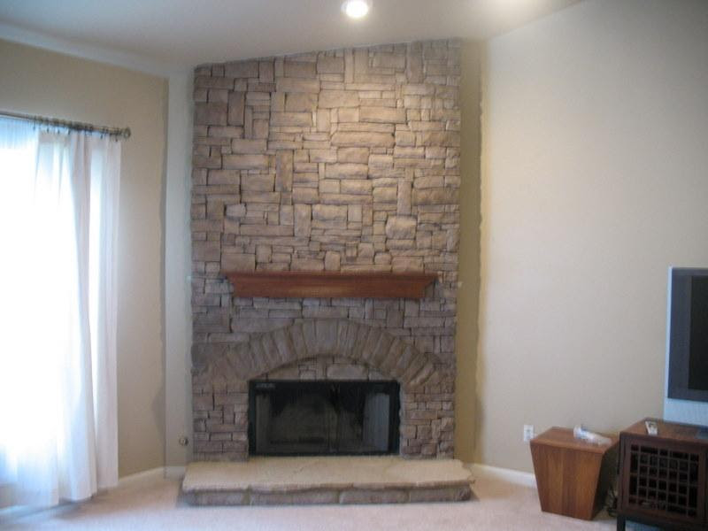Picture: Indoor stack stone fireplace. provided by jackpot ...