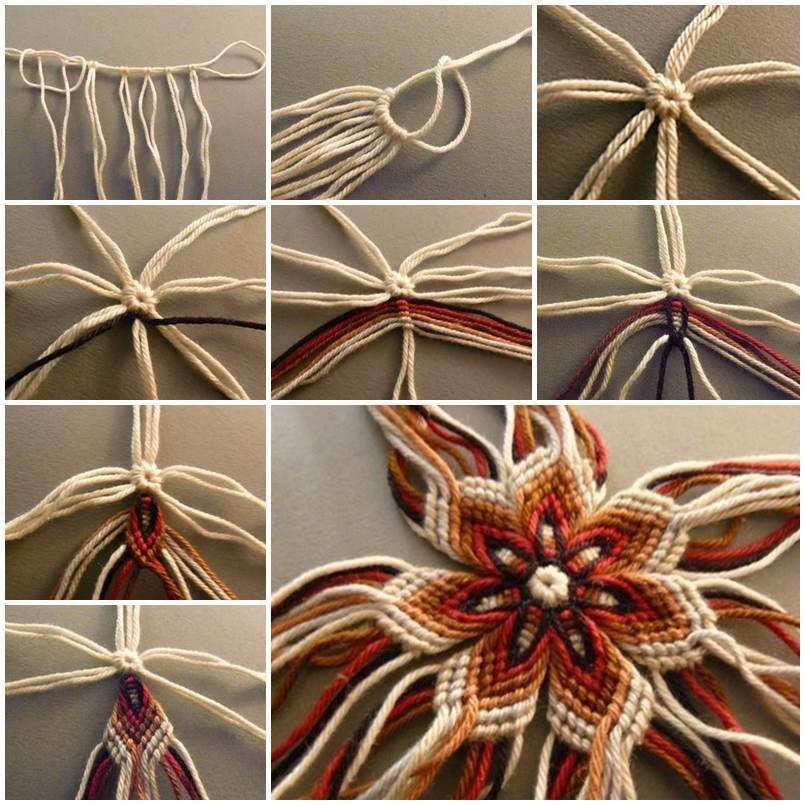 DIY Weaving Flower of Yarn 1