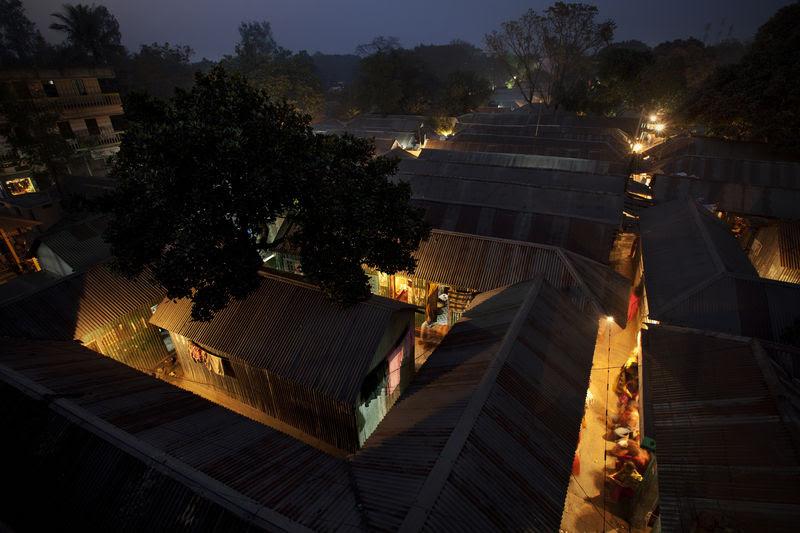 Aerial view of Kandapara brothel in Tangail, a northeastern city of Bangladesh. Image by Ranak Martin. Copyright Demotix (1/12/2012)