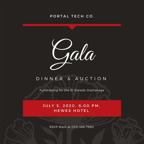 Customize 76  Gala Invitation templates online   Canva