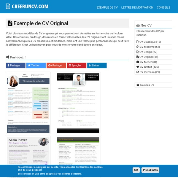 resume format  model de cv gratuit originaux