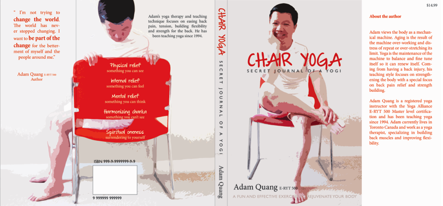 Book Cover Design Chair Yoga