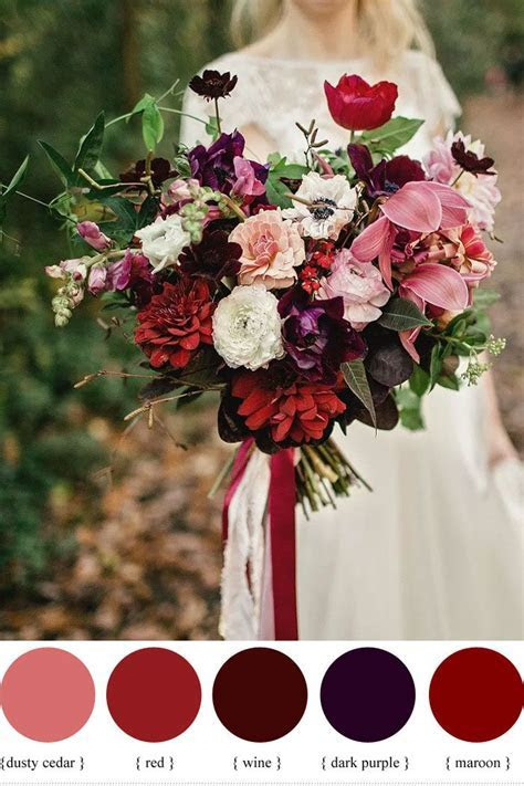 Wedding Quotes : Dark purple and shades of red autumn