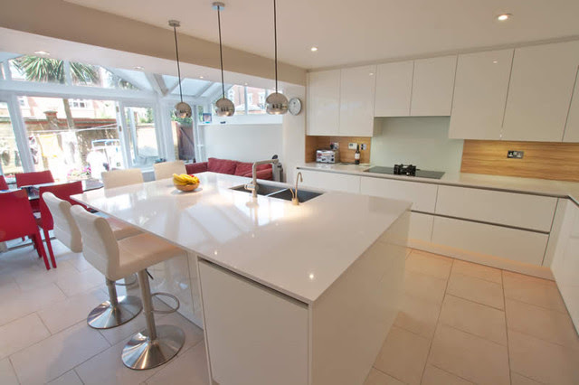 Island Kitchen By LWK Kitchens London - contemporary - kitchen