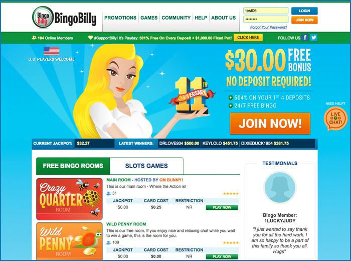 BingoBilly Homepage