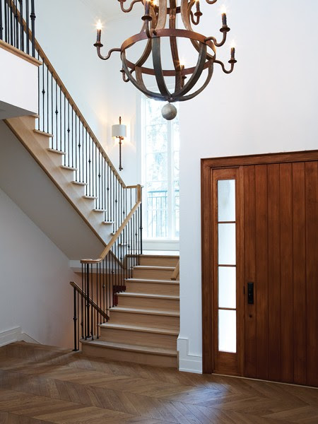Herringbone Wood Floor - Traditional - entrance/foyer - House & Home