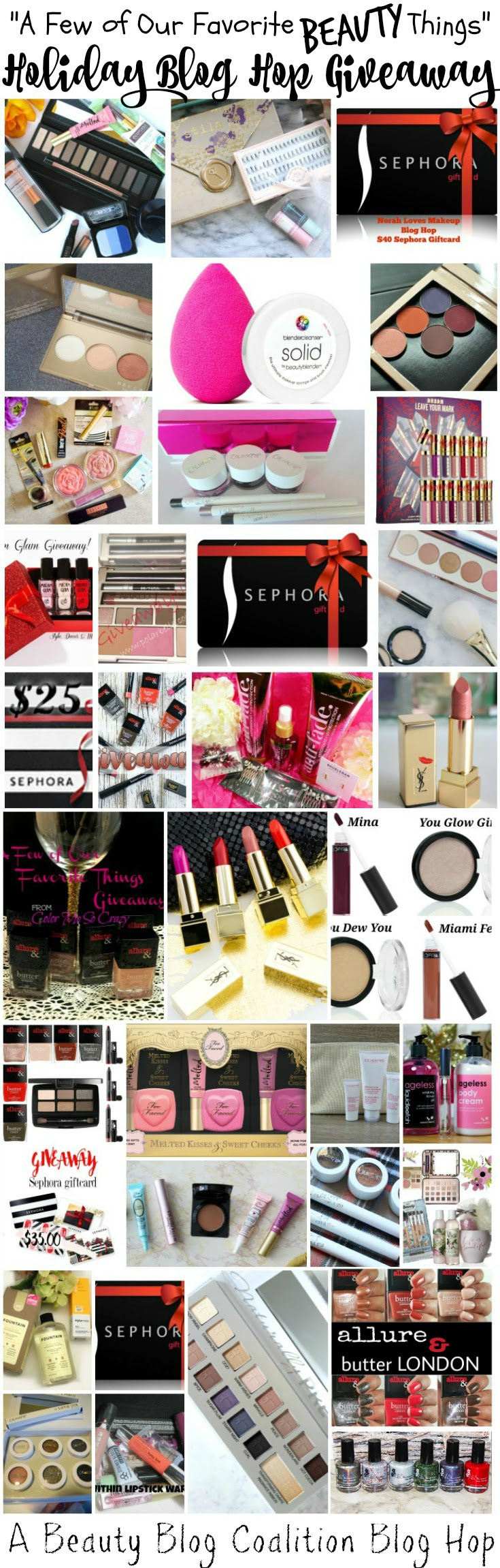 A Few of Our Favorite Beauty Things // Holiday Giveaway // Blog Hop // #holidaygiveaway #giveaway