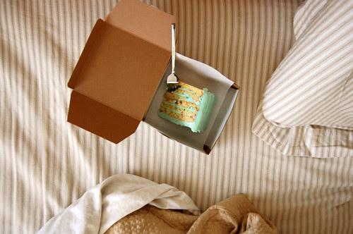 cake in bed