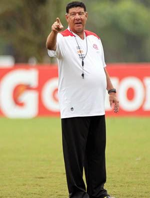 Joel Santana no treino do Flamengo (Foto: Maurício Val / VIPCOM)