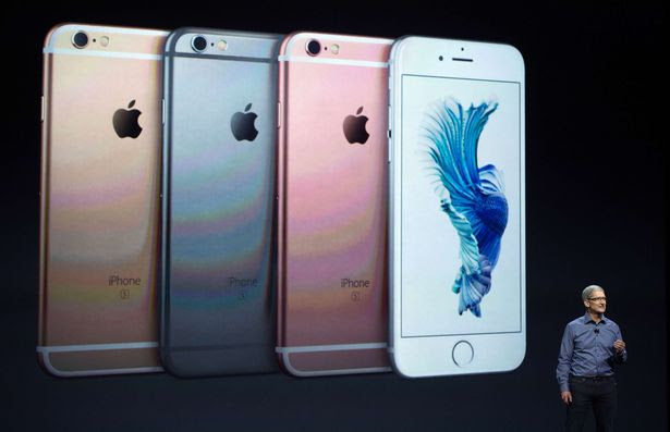 Apple CEO Tim Cook introduces the iPhone 6s