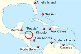 L'emplacement supposé du Poyais