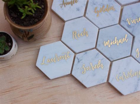 Wedding Marble Place Cards. Name Cards. Escort Cards