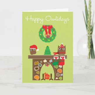 Happy Owlidays! Greeting Card card
