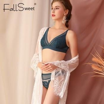 FallSweet Bra Set Women Lace