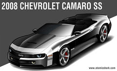 2008 Chevy Camaro SS rendering