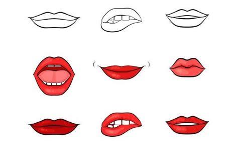 vector woman lips  mouth  microvector  creative