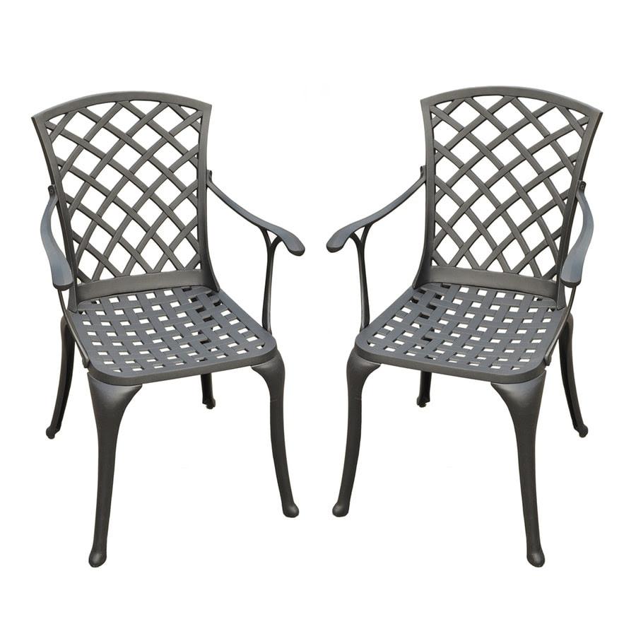 Shop Crosley Furniture Sedona 2-Count Charcoal Black ...