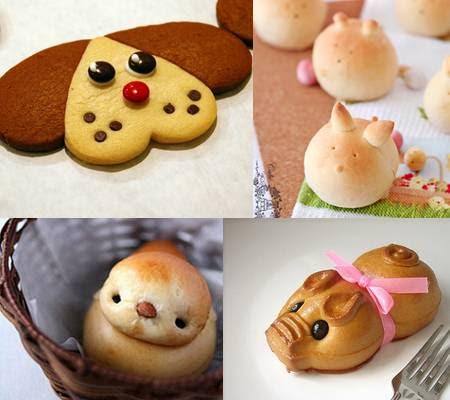 Pães decorados no Japão