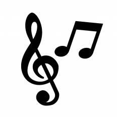 音符シルエット イラストの無料ダウンロードサイトシルエットac