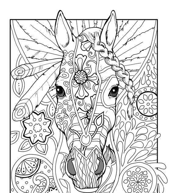 pferde mandalas für erwachsene zum ausdrucken  kids n fun
