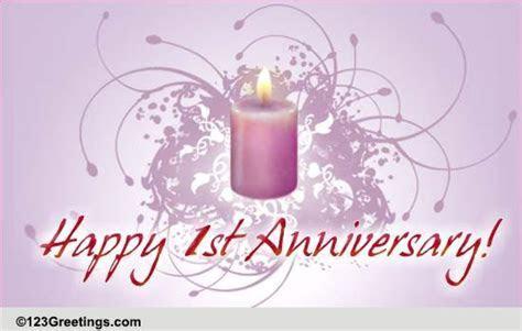 1st Wedding Anniversary! Free Milestones eCards, Greeting